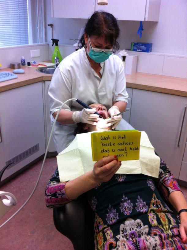 In gesprek met de tandarts